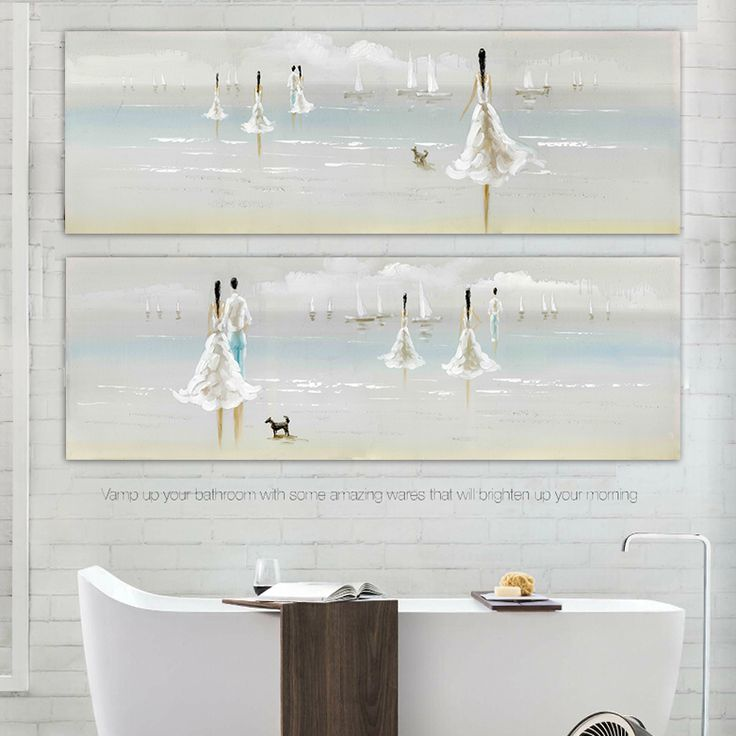 Find More Painting & Calligraphy Information about Modern Beach Landscape People painted canvas wall art Nordic puppy pet lovers bedroom Mediterranean style living room home decor,High Quality home decor french,China home goods wall decor Suppliers, Cheap decorative home painting from WHAT ART on Aliexpress.com