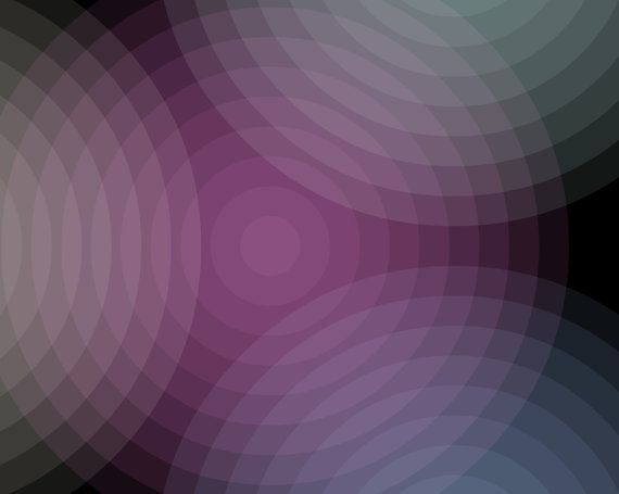 Color In The Middle Echo Abstract Wall Art Print.