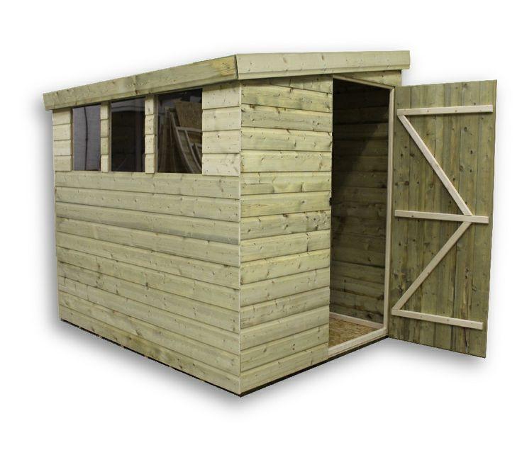7x5 garden shed shiplap pent lean to ebay 319 sheds for Garden shed 7x5