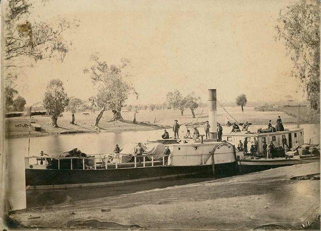 Murray River steamer Albury, 1870