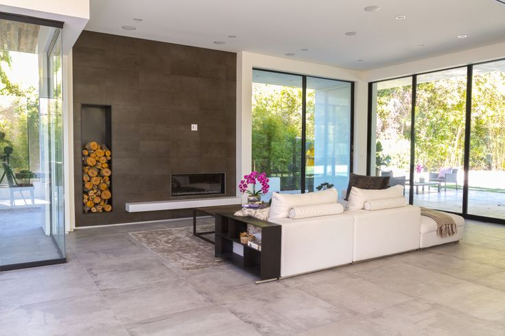 Evoque Grigio 32x32 Porcelain Tile from Bmosaics | Interior design, Interior, Home decor