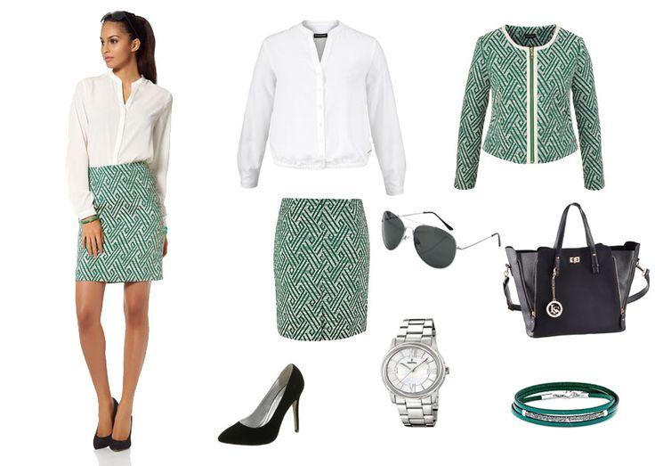 Quelle - Business Casual Ein Outfit besonders geeignet fürs Büro oder geschäftliche Anlässe. Trotzdem wirkt der Look feminin und nicht overdressed.