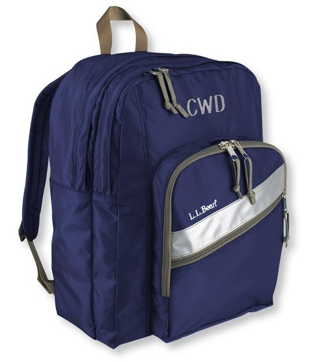monogrammed ll bean backpack