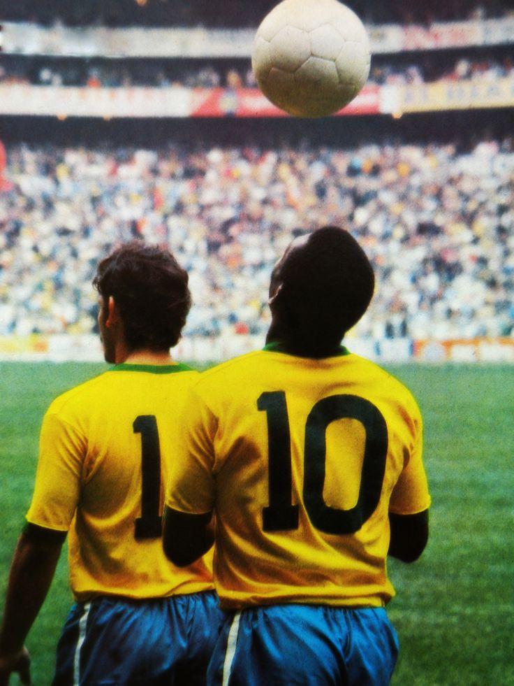Pele before the inaugural 1970 Brasil's match against Czechoslovakia