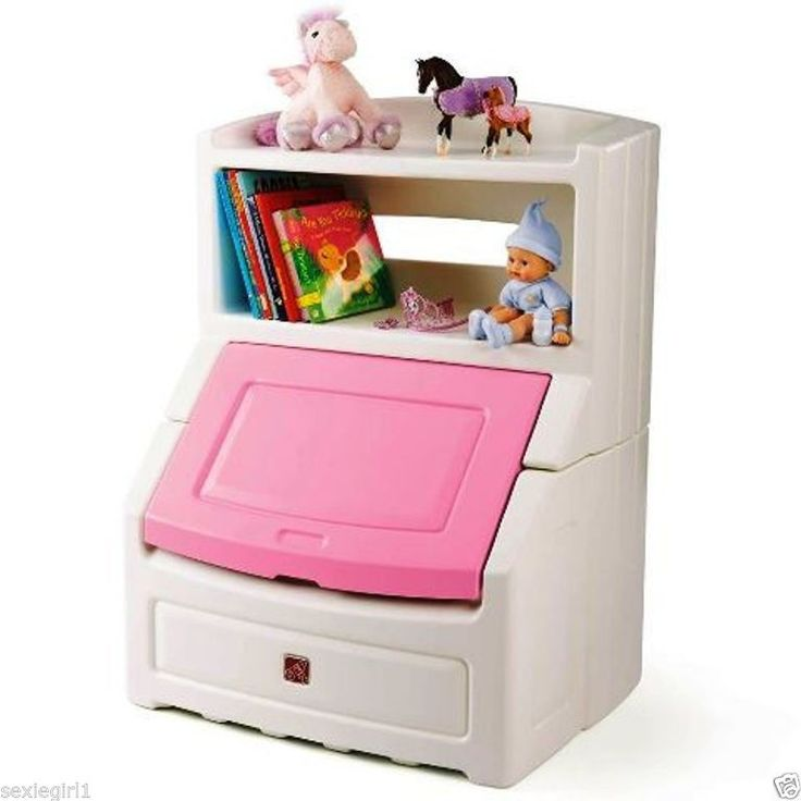 Childrens Jumbo Bedroom Room Tidy Toy Storage Chest Box Trunk: New Pink Kids Bookcase Girls Bedroom Storage Chest Toybox