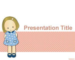 Childhood innocence PowerPoint Template