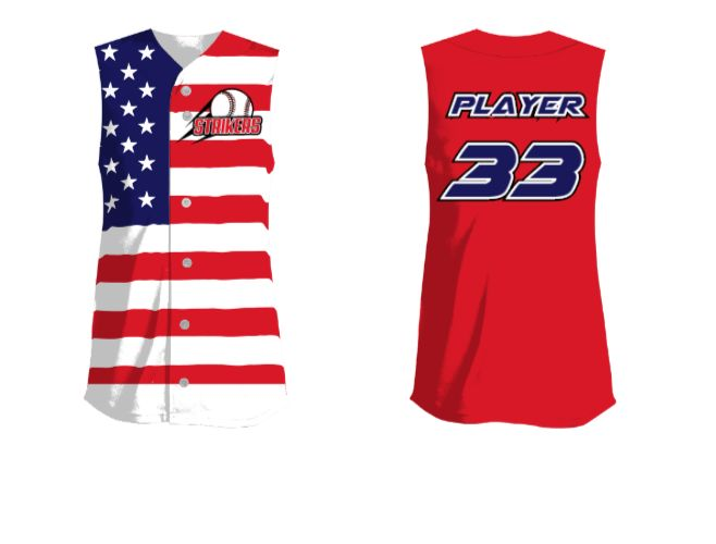 Design Your Own STAR-SPANGLED BANNER Patriotic Softball Jersey
