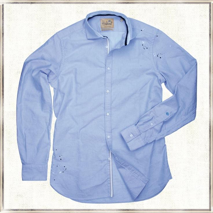 Halibut Shirt - Oxford Pint - Color Splash Shirt by Halibut
