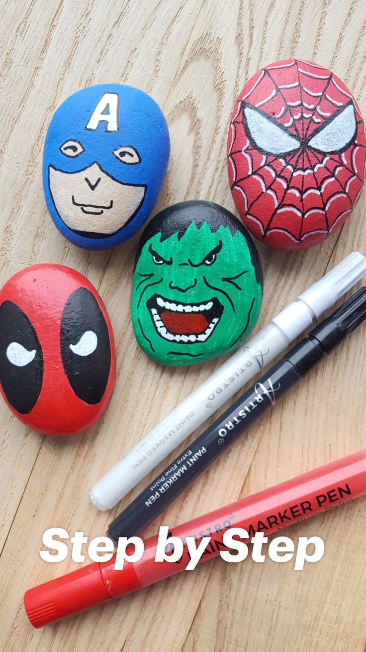 Suberb Rock Painting Patterns, Rock Painting Ideas Easy, Rock Painting Designs, Rock Painting Ideas For Kids, Painted Rock Animals, Painted Rocks Kids, Painted Garden Rocks, Painted Pebbles, Painted Stones