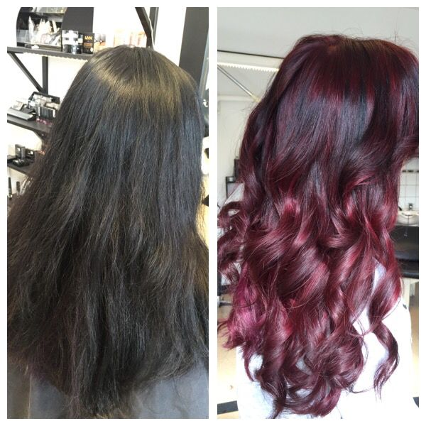Red hair  Balayage