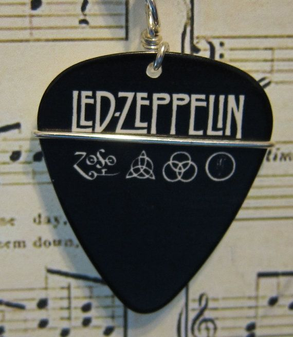 Led Zepplin guitar pick pendant at www.twistedpicks.com