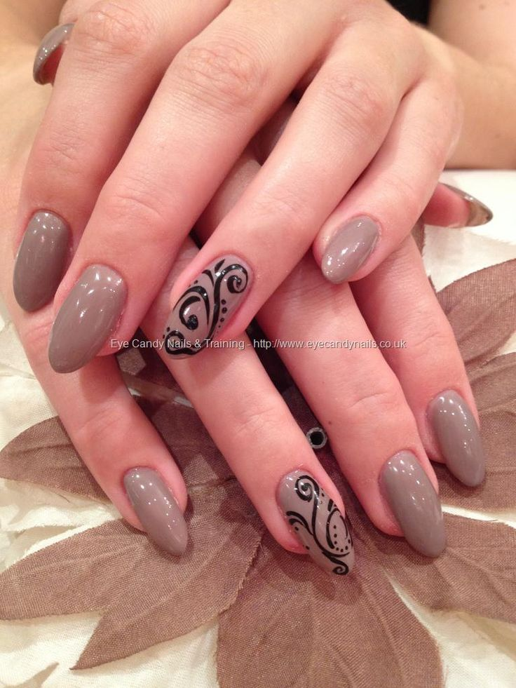 654 best nail art images on pinterest nail arts nail designs acrylic overlays with wild mink gelux gel polish and black freehand nail art prinsesfo Choice Image