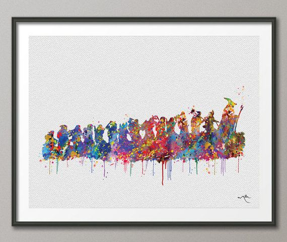 The Hobbit Watercolor Art Print Art Wall Art Poster Wall Decor Art Wedding Gift Geek Poster Home Decor Wall Hanging No 359