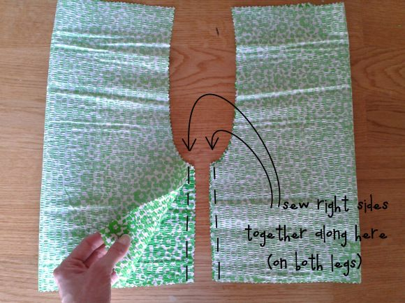 DIY ruffle pants