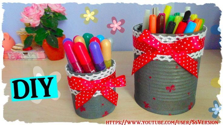 Tutorial: Barattolo porta oggetti | Riciclo Creativo | DIY Creative Recy...
