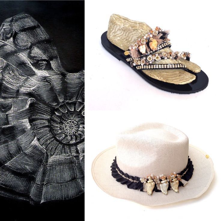 Black-white-natural! The perfect combination for your summer nights! Natural shells from your holidays with a touch of glampse! Now available in Stores! #bonbonsandals #kallipateira #black #white #natural #shells #naturalshells #hat #sandal #newcollection #summer2016 #glampse