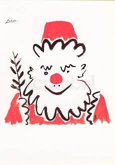 Love this Picasso Santa