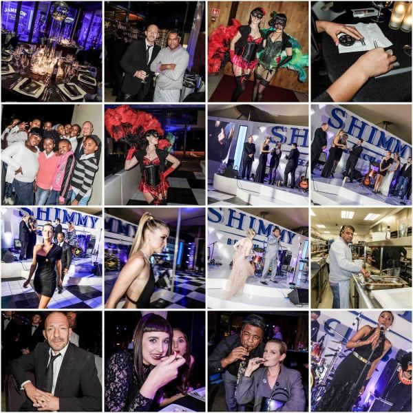 The Blobal Parti charity dinner at Shimmy
