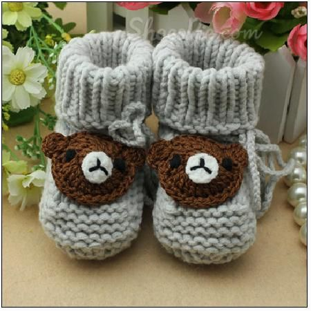 #Hand-Woven #Bear #Baby Soft Bottom #Shoes