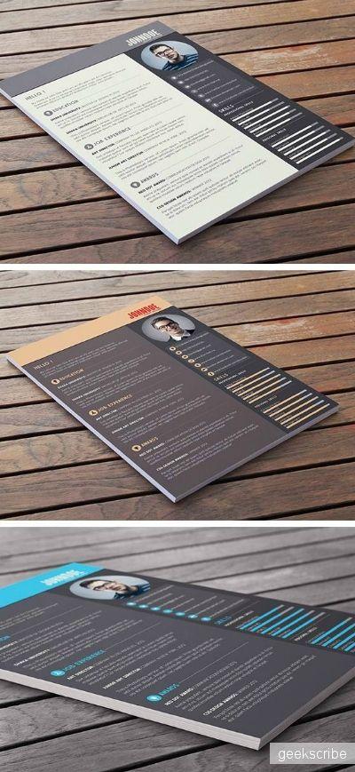 Шаблон резюме / Шаблоны / Yagiro - сайт о дизайне и для дизайнеров