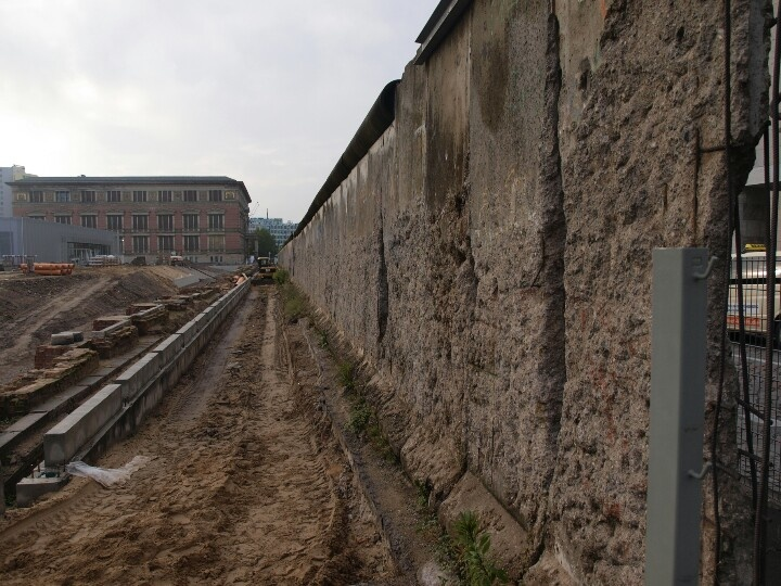Remnants of the Berlin Wall near the old Gestapo HQ. A picture I took a few years ago of a visitors center and museum under construction.
