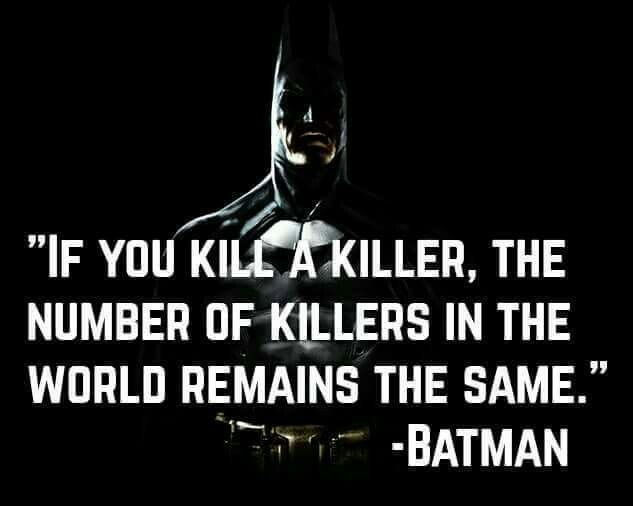 But if you kill a whole lot of killers, it goes down exponentially.