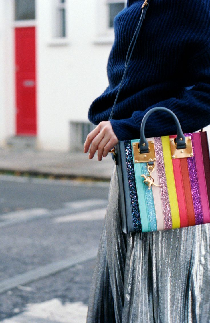 Rainbow colour, polished hardware and glitter - it's time to make a statement with our Square Albion, available exclusively at SophieHulme.com.