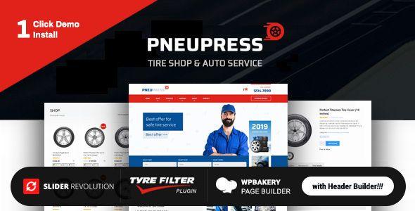 Pneupress Tire Shop Wordpress Theme Tyre Shop Wordpress Theme