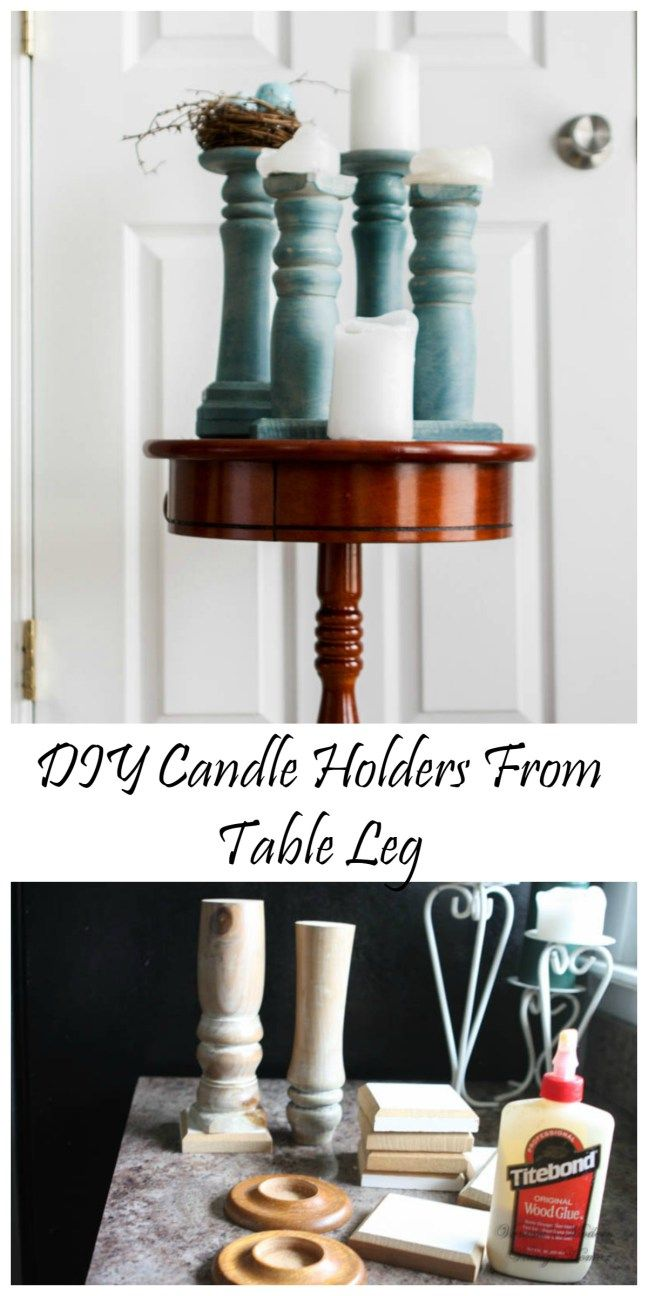 DIY Candle holders - Vanessa's Modern Vintage Home