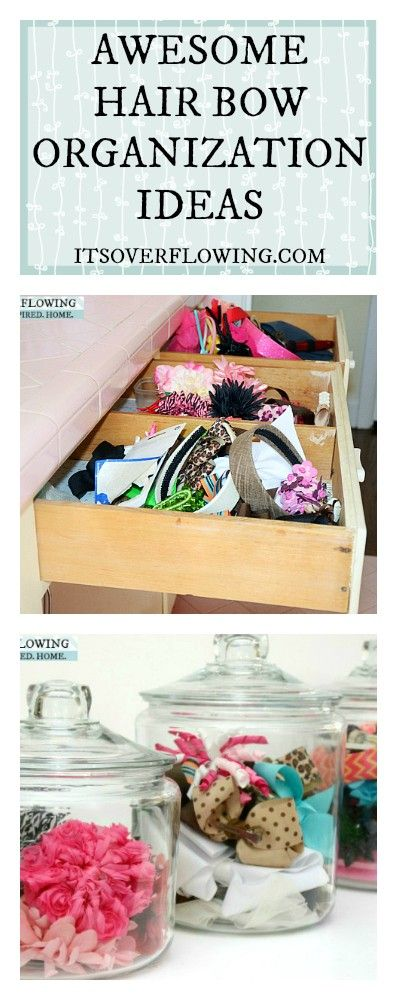 Awesome Hair Bow Organization IDEAS! I need to get their accessories under control!