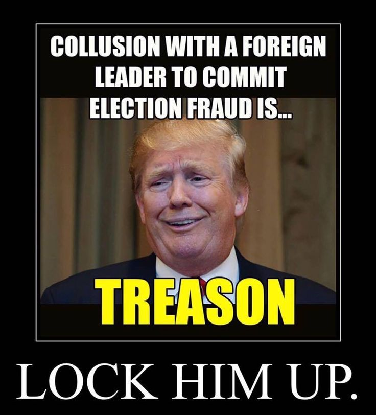 Trump LOCK HIM UP for collusion with a foreign leader to commit election fraud is treason!