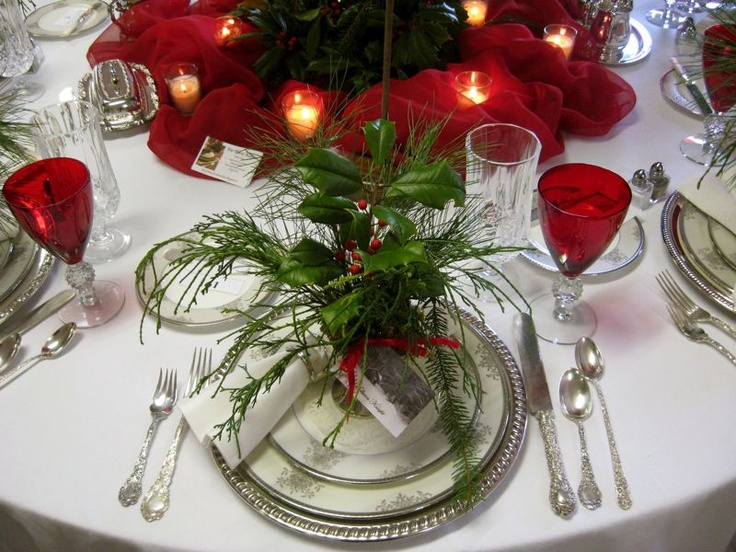 Christmas Place Settings 194 best christmas table settings images on pinterest | christmas