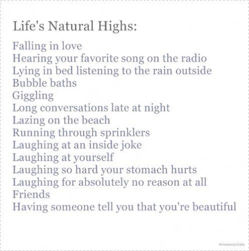 life's natural highs