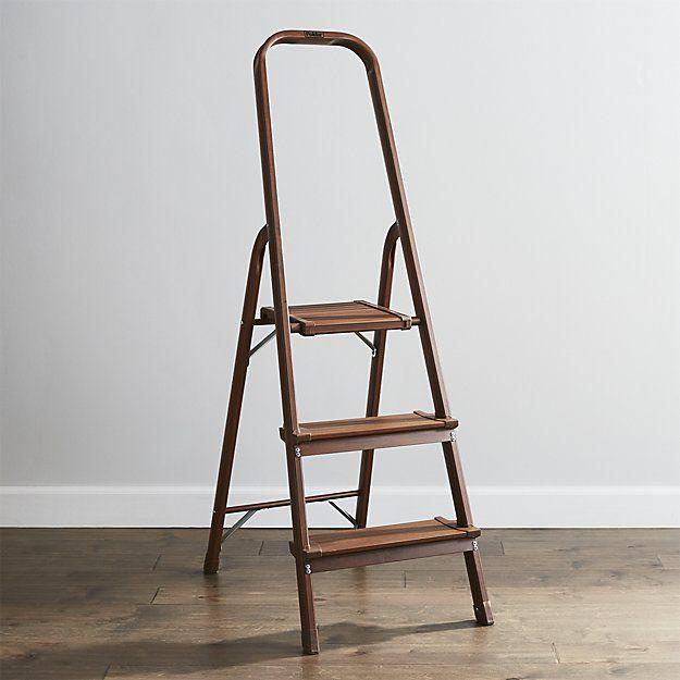 Tremendous Polder 3 Step Walnut Step Stool P L A C E S A B O D E S Machost Co Dining Chair Design Ideas Machostcouk