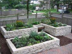 I planned on making a raised bed out of cedar...but this stone is beautiful!  love the little bench...can't wait to garden!