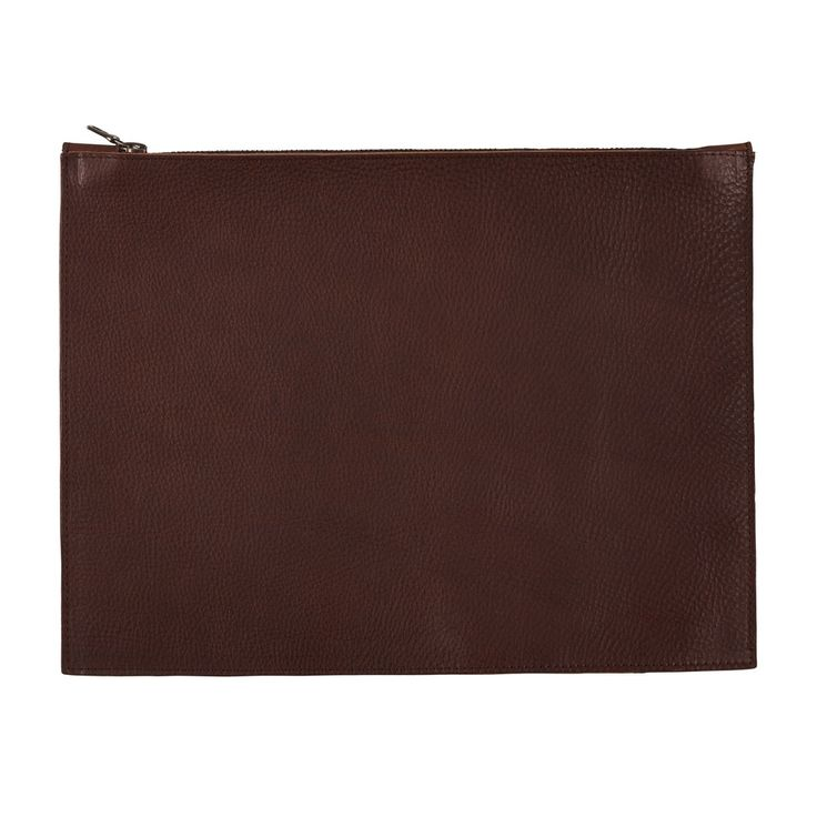 Sarah Baily | Russell tablet zip pouch - Brown leather