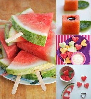 Fruta en figuras, encuentra más deliciosas opciones en snacks para la escuela aquí...http://www.1001consejos.com/snacks-para-la-escuela/