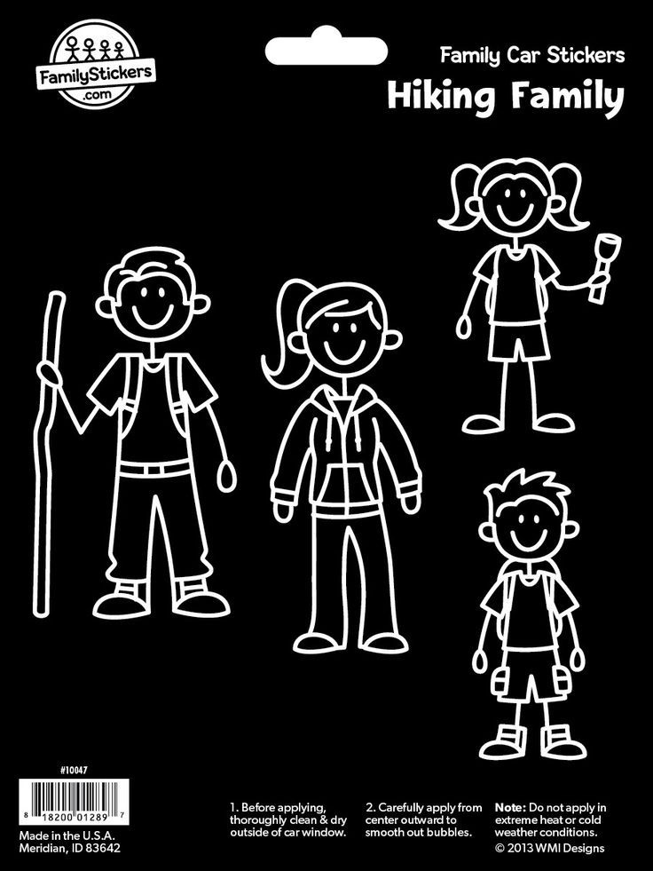 Hiking Family Stickers