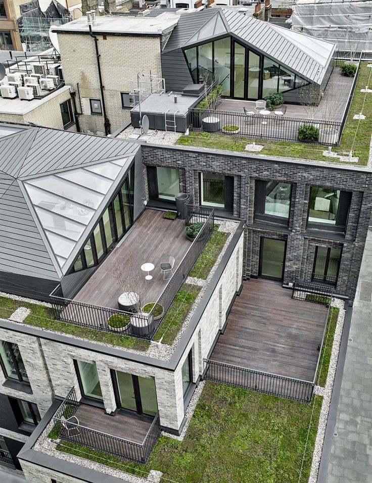 the intervention by DSDHA features two units with a private green rooftop and views across central london.