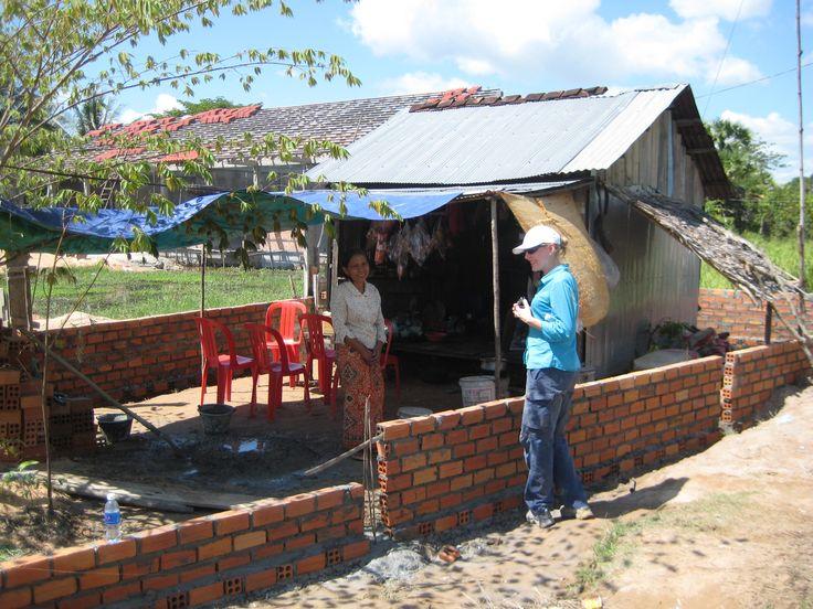 Building housing in Camboda