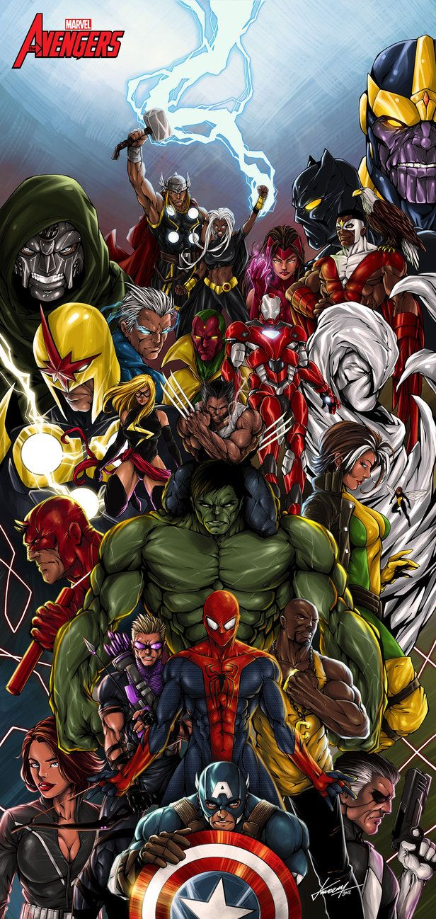 #Marvel #Fan #Art #Avengers #Wolverine