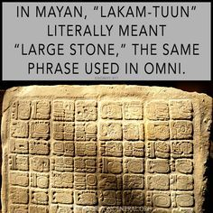 """The Book of Mormon described a """"large stone"""" engraved with the history of a king, his battles, his ancestors, and the origins of his ruling lineage. Learn how the more scholars learn about Mesoamerican stelae, the more comfortably Coriantumr's stone fits the description.  https://knowhy.bookofmormoncentral.org/content/why-was-coriantumrs-record-engraved-on-a-large-stone  #Stelae #Mesoamerica #Archaeology #Mormon #LDS #BookofMormon #Knowhy"""