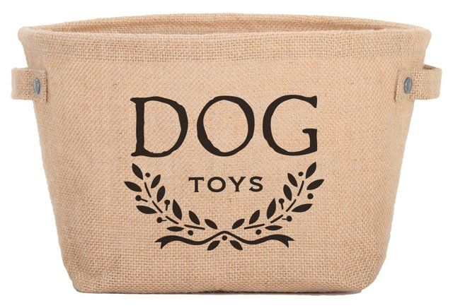Eco Toy Storage Bag, Tan/Black