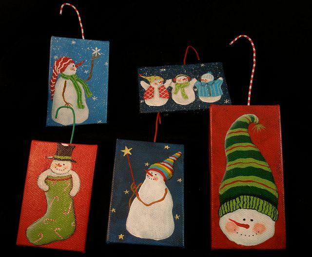 237 best mini canvas art images on pinterest canvases abstract mini canvas ornaments by ginnydiezelstudios via flickr christmas canvas artmini canvas artdiy solutioingenieria Choice Image