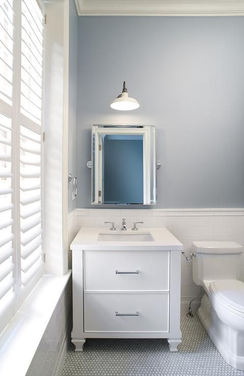Best Photo Gallery For Website Slate Blue Bathroom Walls with White Subway Tiles