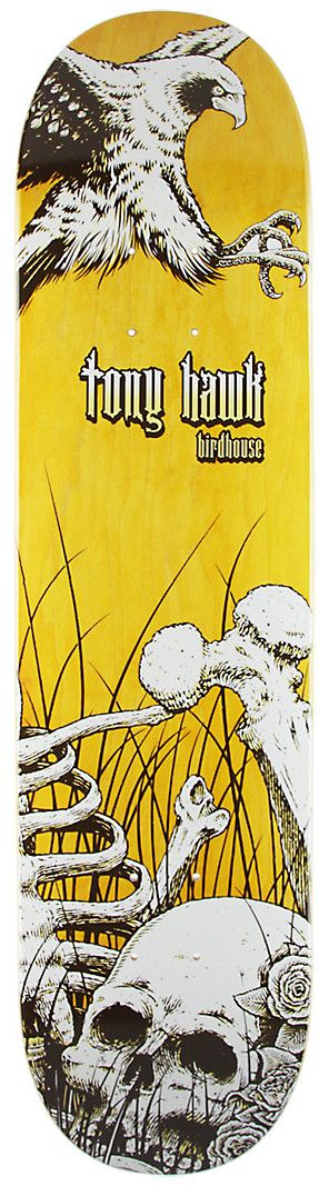 Birdhouse Skateboards Aviary Series Tony Hawk Skateboard Deck Skull
