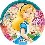 Prato Descartável Alice no País das Maravilhas - 08 unidades
