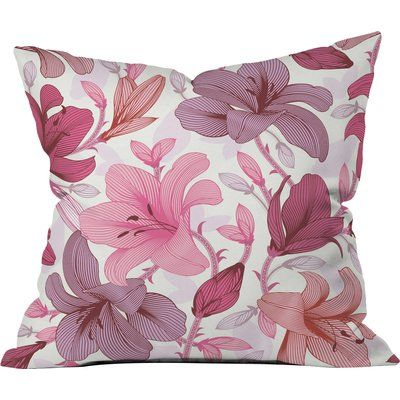 "East Urban Home Sabine Reinhart Lost in Love Polyester Throw Pillow Size: 20"" H x 20"" W x 6"" D"