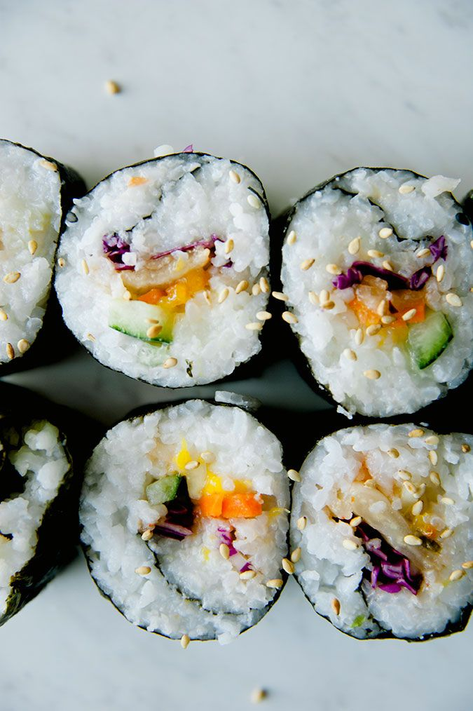 Vegan Rainbow Roll Recipe