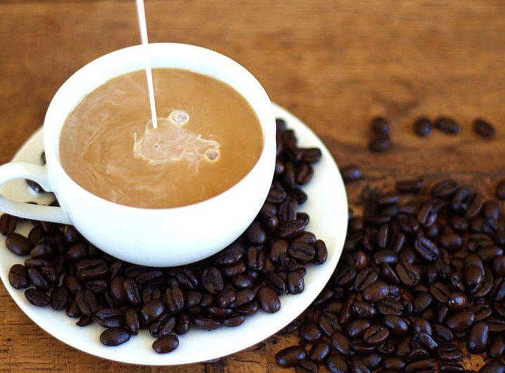 Homemade coffee creamer -- natural.